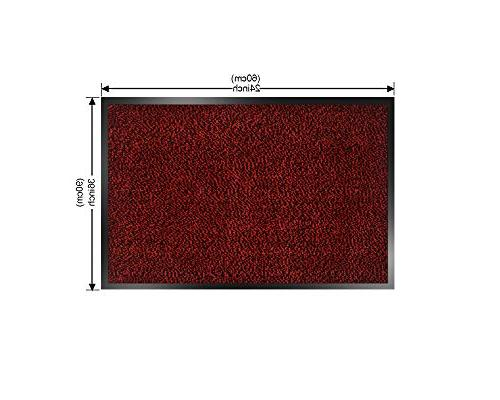 SHOWIN mats Inside Carpet Mat(Red-Black Mat Slip,Indoor/Outdoor Entry Rug