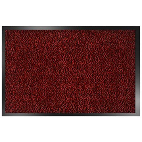 SHOWIN Door mats Inside Mat(Red-Black Mat Absorbent,Non Rug