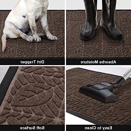 "Large Outdoor Rubber x 24"" for Door Entrance Outside Patio Dirt Mud Trapper Waterproof Out Door Washable Carpet"