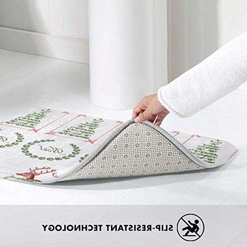 FunnyCustom Doormat Vintage Stickers Slip Water Mats for Bathroom