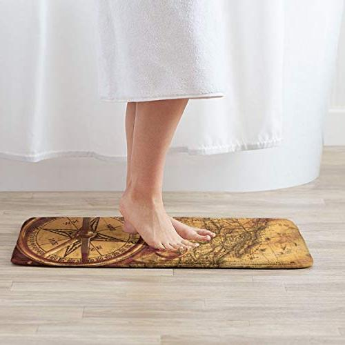 FunnyCustom Doormat Vintage Absorption Mats for Home