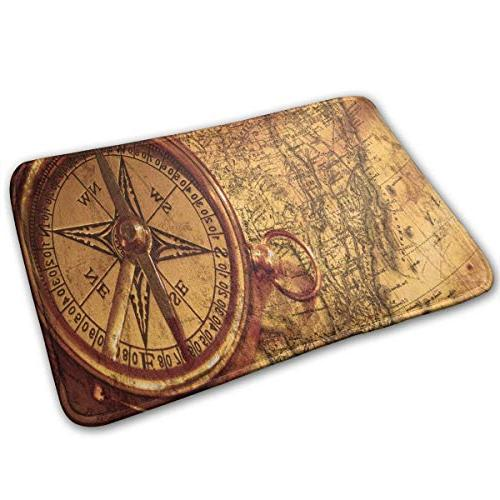 doormat vintage compass customized non