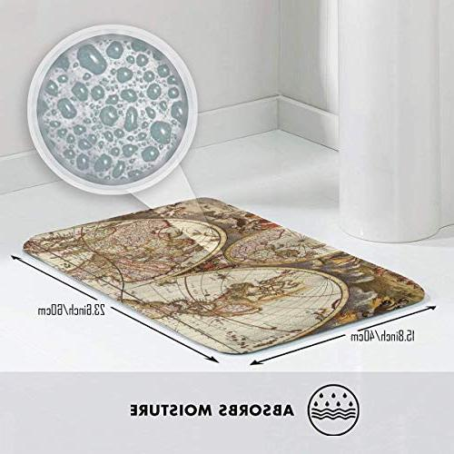 FunnyCustom Vintage Wallpapers Personalized Absorption Bath Mat Kitchen