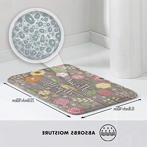 FunnyCustom Vintage Chic Personalized Non Slip Absorption for Kitchen