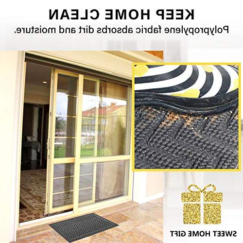 Mibao 24 x 36 inch Winter Heavy Duty Front Outdoor Non-Slip Welcome Entry, Patio