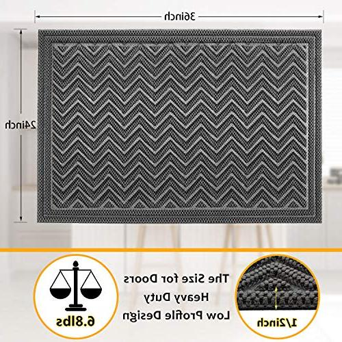 Mibao Mat, 24 x inch Winter Duty Front Outdoor Rug, Non-Slip for Entry,