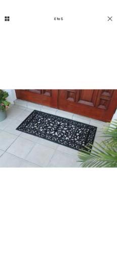 A1 Home Collections First Impression Audie Rubber Entry Doub