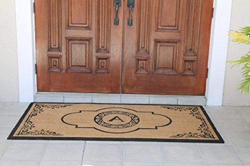 "A1 Home Collections First Impression Crafted Abrilina Entry Double Doormat, L 36"" W, X-Large"