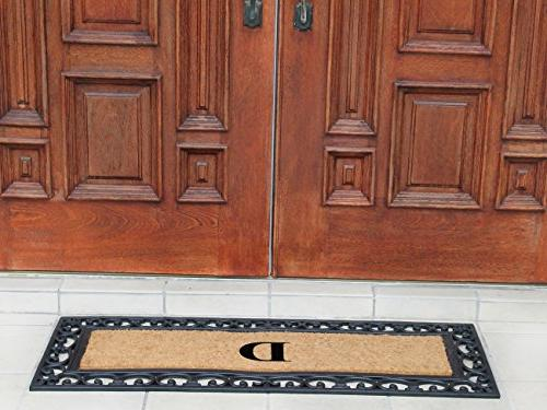 First Impression Crafted Monogrammed Entry Doormat, Double Size