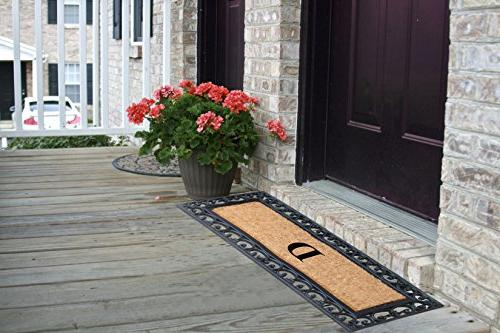 First Impression Exclusive Crafted Monogrammed Doormat, Large Double Size -RC2004D