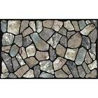 Masterpiece Flagstone Grey Stone Door Mat, 18-Inch by 30-Inc