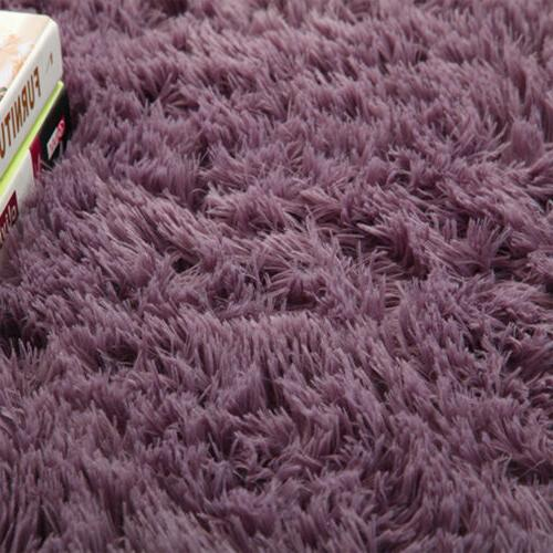 Fluffy Rugs Anti-Skid Area Rug Bedroom 6Size