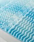Foam Mattress Pad Cooling Gel Bed Topper Orthopedic Cover Tw