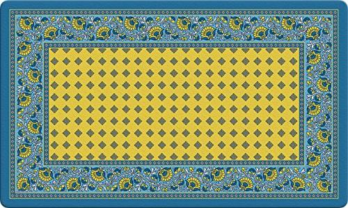 french paisley yellow decorative floor