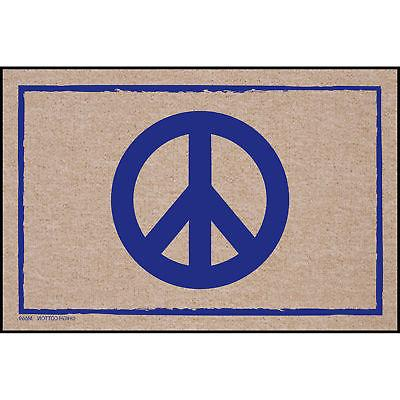 High Cotton Front Door Welcome Mat - Peace Sign Symbol