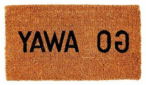 Go Away Doormat Outdoor Indoor Door Mat Natural Coconut Fibe
