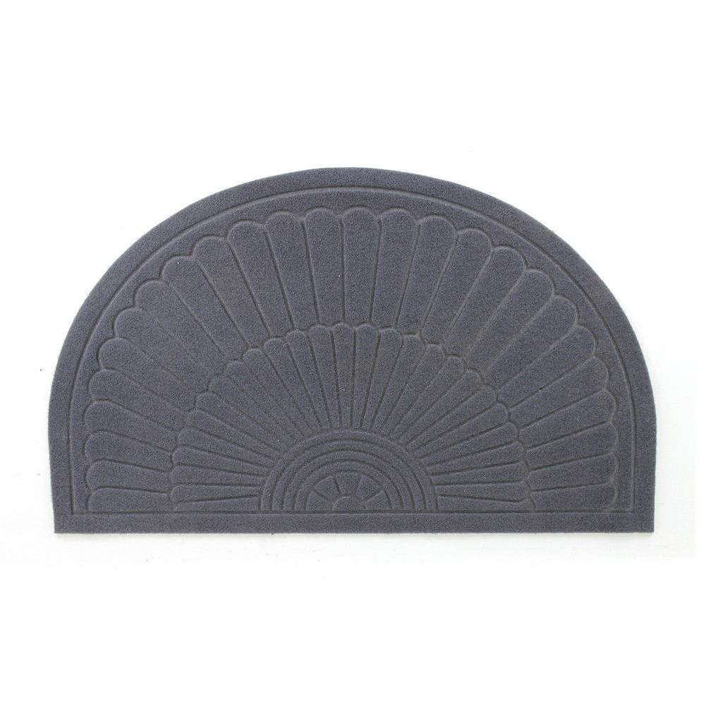 Half Round Door Mat Entrance Rug Floor Mats, Scraper