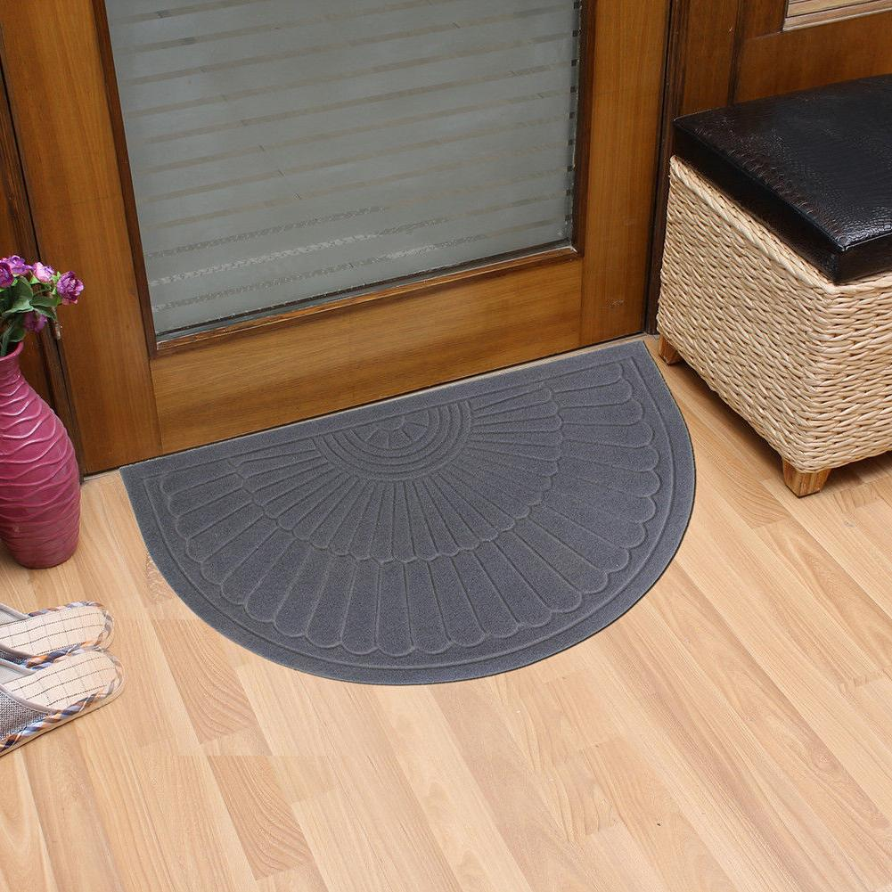 half round door mat entrance rug floor