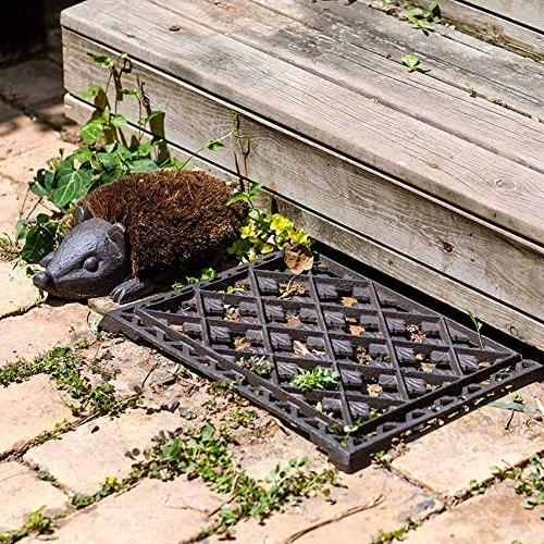 "Sungmor Duty Iron x 12"" Vintage & Rustic and Hedgehog Mat and for Front Garden Path"