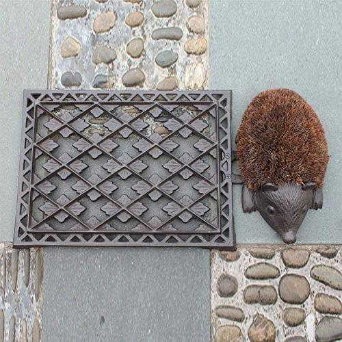 Iron x Vintage & and Lovely Hedgehog Mat and Shoe for Garden