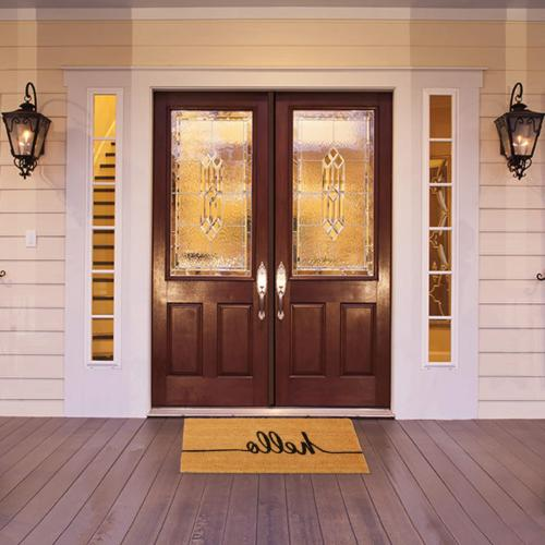 "Kempf Hello Front Door mat Two Sizes x and x 47"" 18"" x"