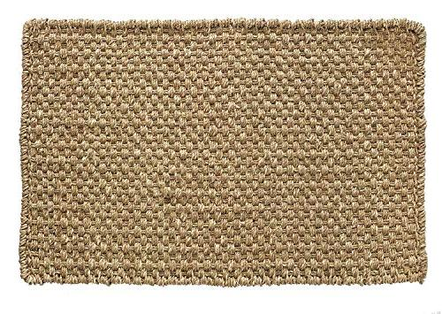 """HF Market Basketweave Seagrass 30"""", Durable Handwoven Seagrass, and Stain Resistant, Beige"""