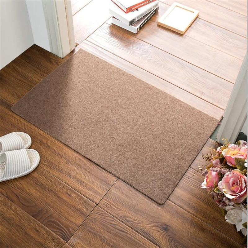 beibehang High-end brushed plain solid sheet <font><b>mat</b></font> carpet kitchen absorbent