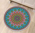 India Mandala Lotus Door Round Rugs Bedroom Floor Yoga Carpe