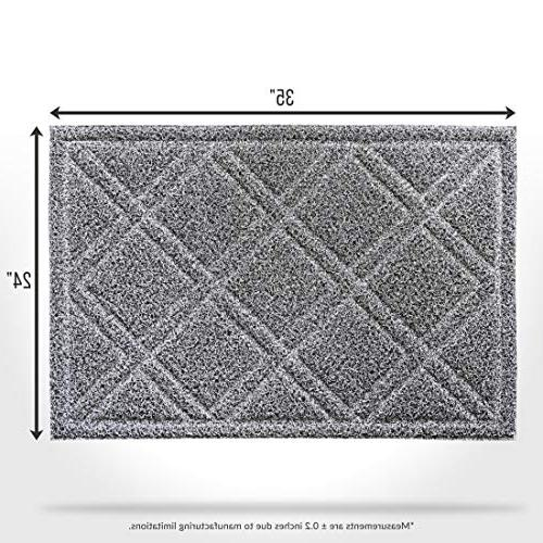 BrigHaus | 24 | Slip Duty Front Mat Outside Inside Entry Dirt Snow & Mud