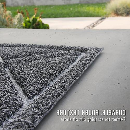 BrigHaus | x | Non Slip Duty Mat Outside Inside Entry Way, Catches Dirt Dust Snow Mud