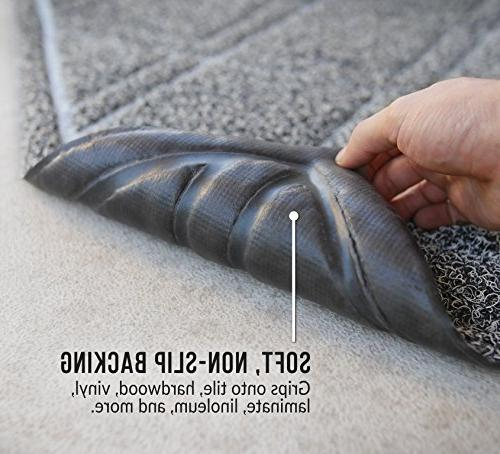 BrigHaus Indoor/Outdoor | 24 | Non Slip Duty Mat Outside Inside Way, Dirt Dust Mud - Black/White