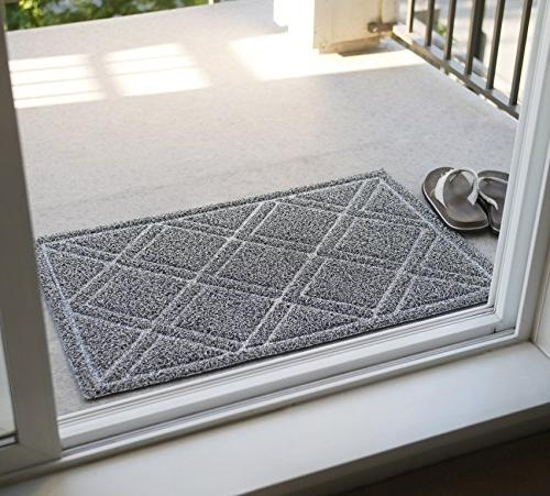 BrigHaus Large Indoor/Outdoor | 24 x | Non Slip Duty Front Entrance Door Mat Rug, Inside Dirt Dust Mud