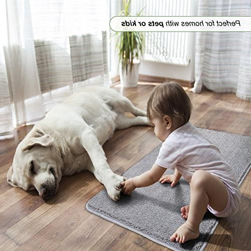 "Refetone Indoor Doormat Absorbs Backing Non Mat for Room, Back Door, Traffic 20""x Machine Washable"