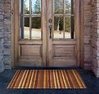 Large Earth Tone Doormat Oversized Striped Welcome Mat, Dura