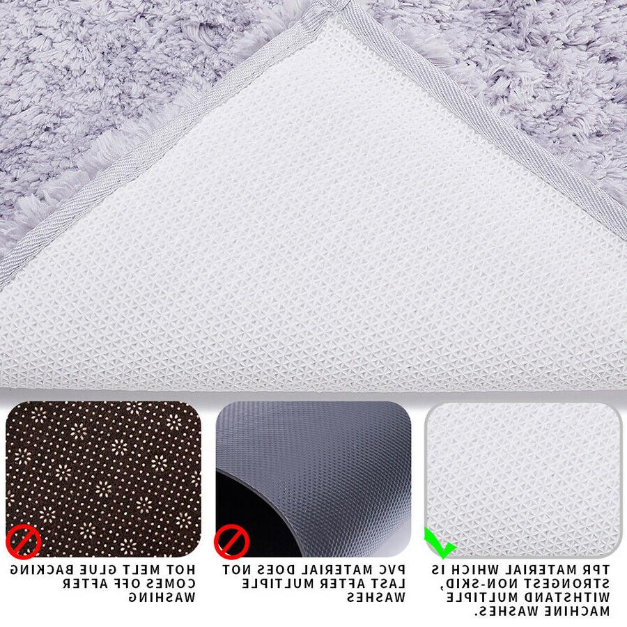 Long Plush Bathroom Non Absorbent Tub Throw 32 x