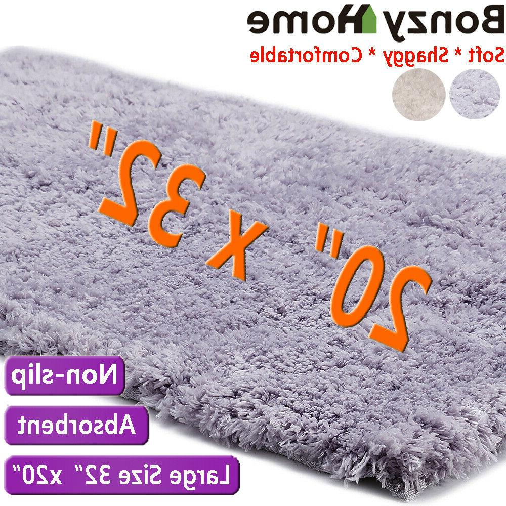 long plush bathroom mat non slip absorbent