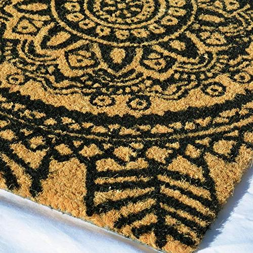 Moroccan Mandalas Natural Backed Black Ink, 2 Wide From Global