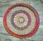 Multi Jute Round Play Mat Floor Rug Mat Toddler Mat Door Mat