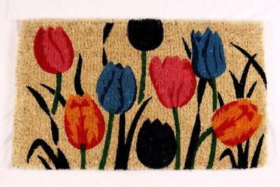 multi tulip natural coco doormat 18 by