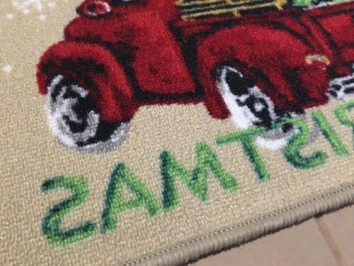 NEW Vintage Red Truck Mat