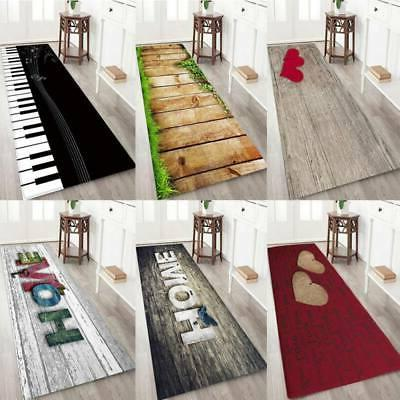 3D Thicken Door Non-Slip Home Bath Mat Flannel Rug Kitchen B