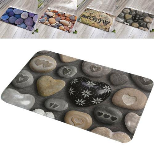 3D Printed Cobblestone Ultra Thin Rubber Floor Mat Kitchen A