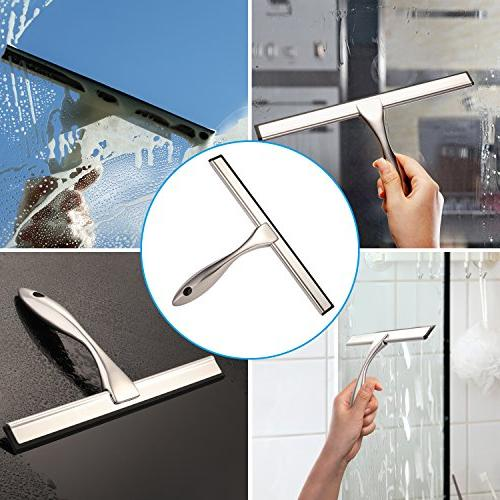 Hiware All-Purpose Squeegee for Window - Stainless 12 Inches
