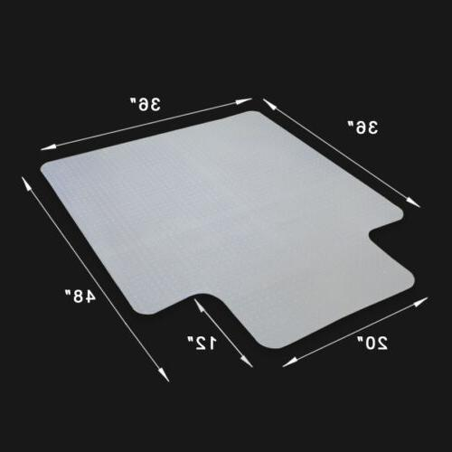1/8 inch Thickness Office Chair Mat 48 x 36 inch Anti-Slip R