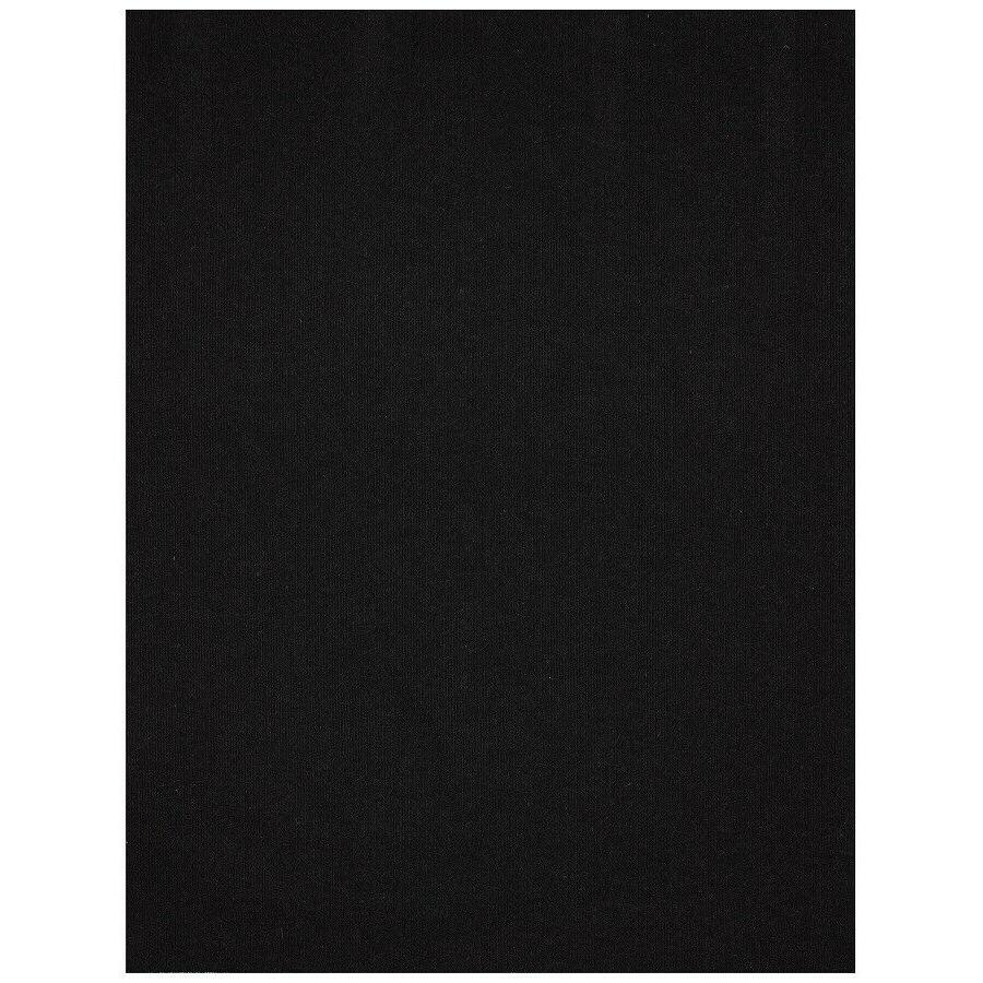 rectangular door mat black indoor outdoor polyester