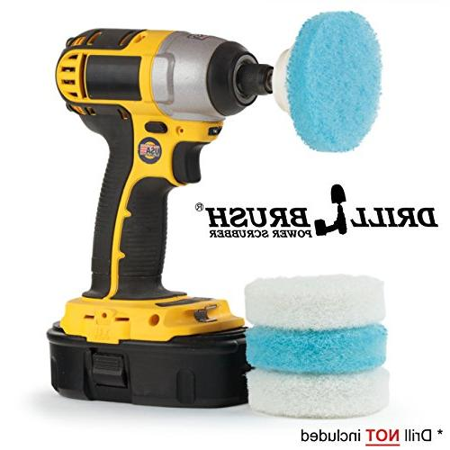 Drill Bathroom Scrubber Pad Kit - Great for Bathroom Cleaning, and Purpose by