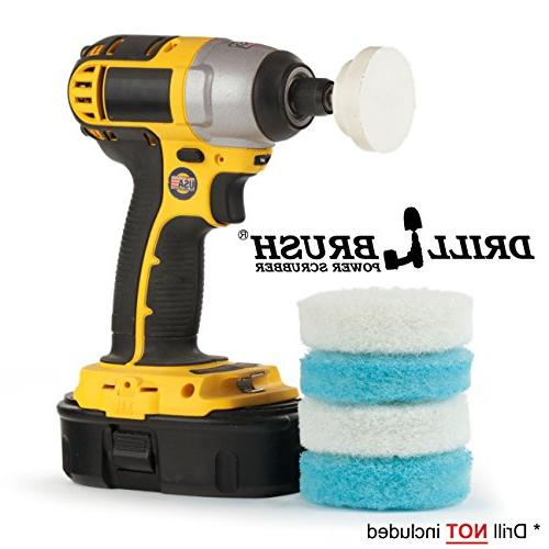 Drill Bathroom Scrubber Kit Great for Shower Cleaning, Bathroom and Purpose