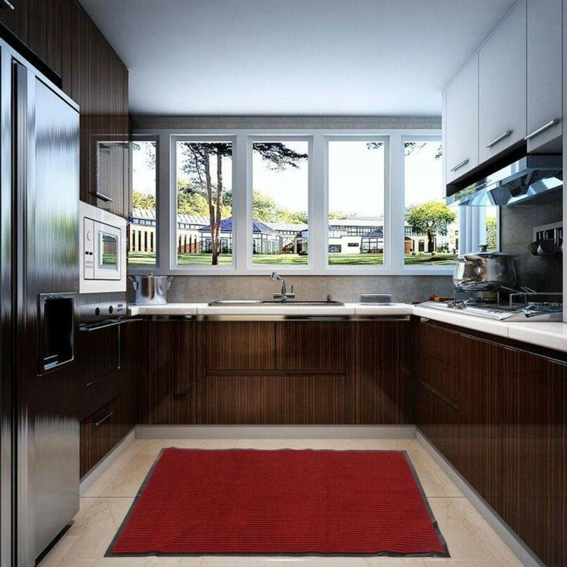 Rubber Back Entrance Doormat Floor Red