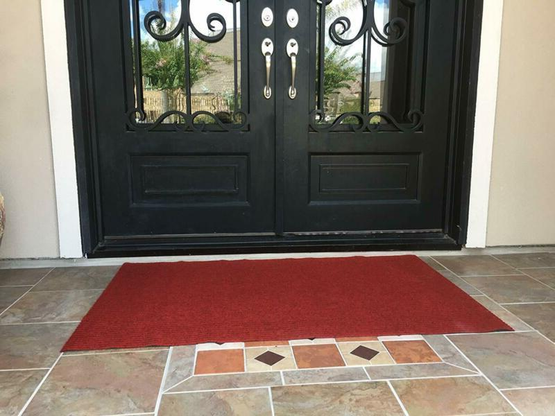 Rubber Entrance Floor Large Welcome Red