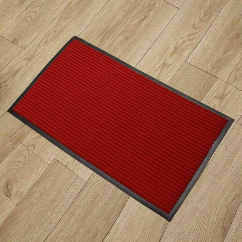 Rubber Back Mat Entrance Outdoor Floor Red